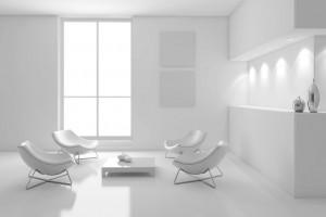 Interno con tavolo e sedie